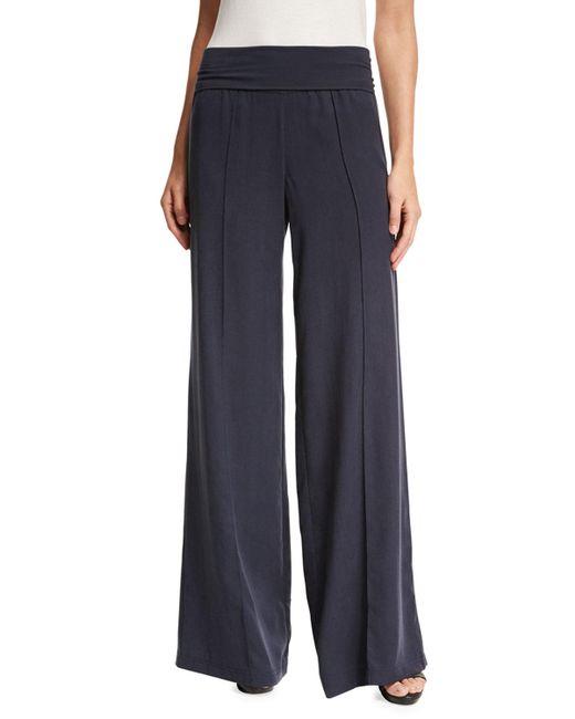 ATM - Blue Wide-leg Yoga Pants - Lyst
