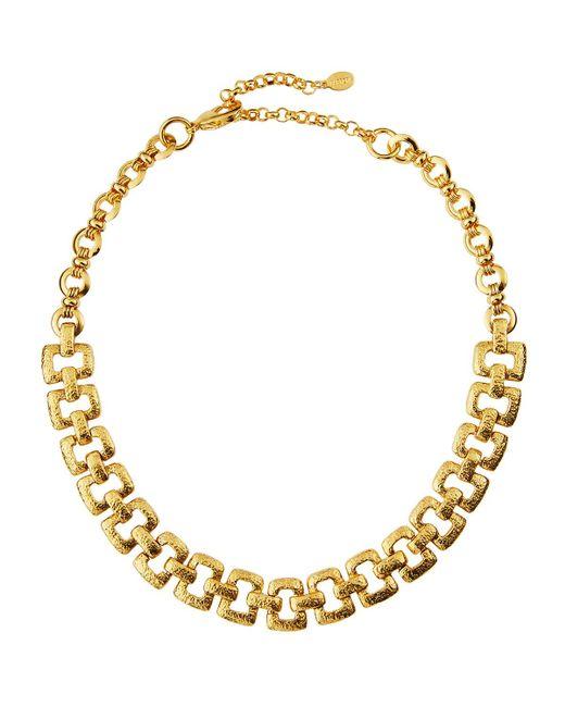 Jose & Maria Barrera   Metallic Hammered Link Collar Necklace   Lyst