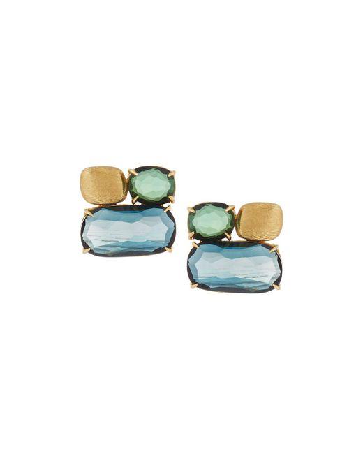 Marco Bicego | Multicolor Murano Topaz & Tourmaline Button Earrings | Lyst