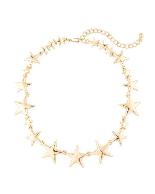 Kenneth Jay Lane | Metallic Polished Golden Star Station Necklace | Lyst
