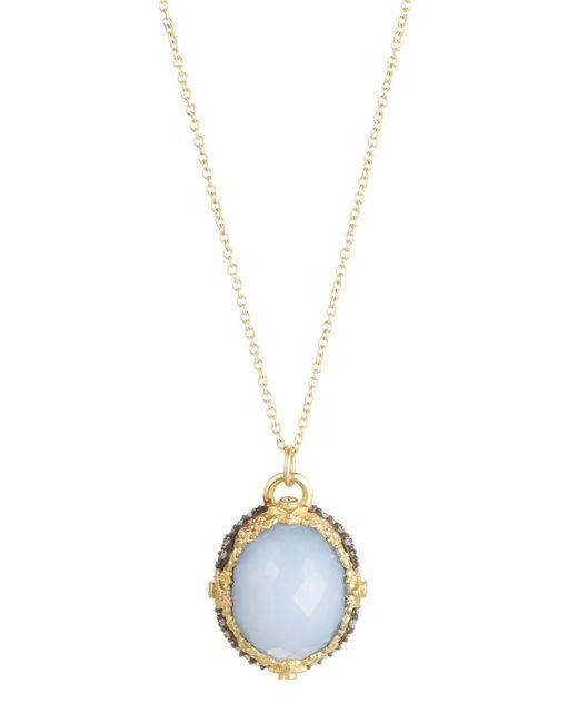 Armenta | Purple Old World Oval Chalcedony & Diamond Pendant Necklace | Lyst