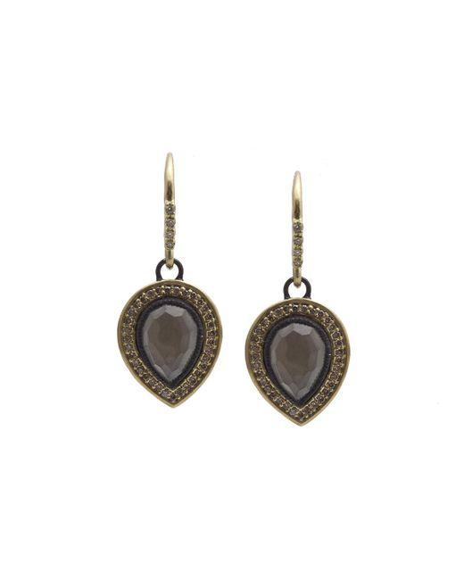Armenta   Gray Old World Pear Triplet Drop Earrings W/ Mixed Diamonds   Lyst