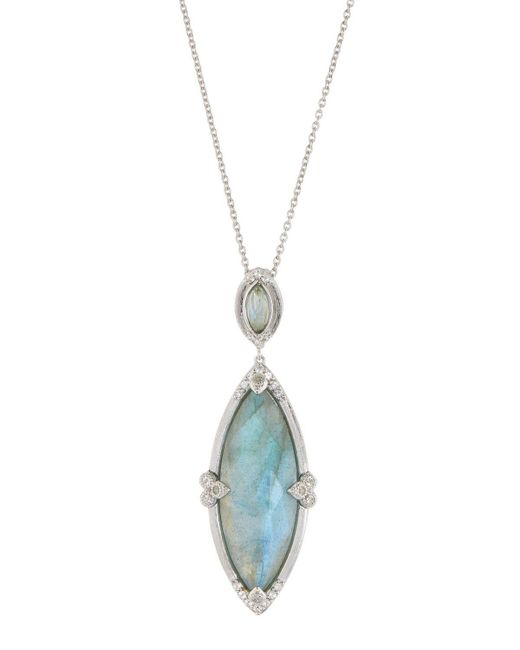 Jude Frances - Metallic Large Marquise Pendant Necklace - Lyst