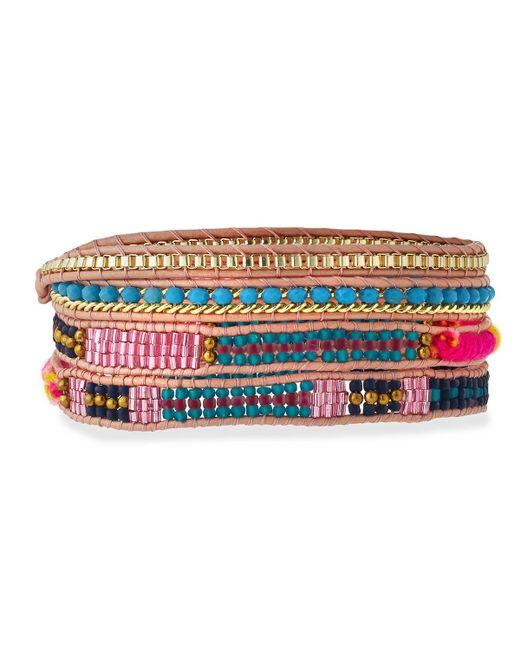 Nakamol   Multicolor Woven & Beaded Wrap Bracelet   Lyst