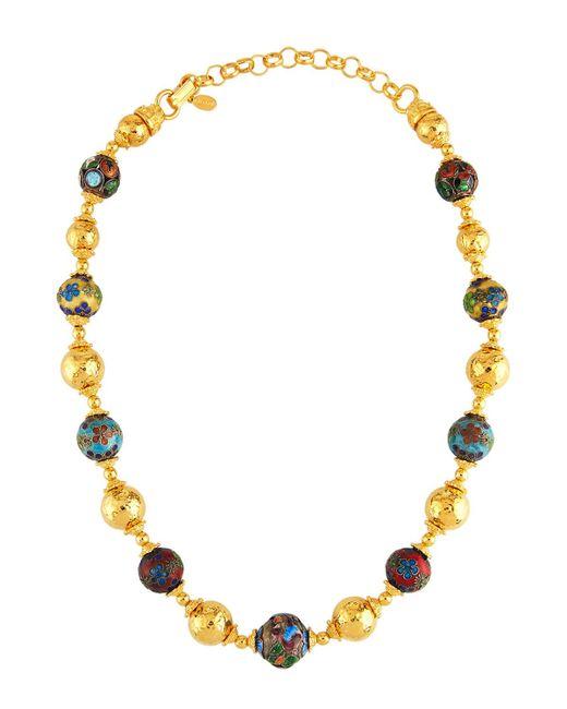 Jose & Maria Barrera | Metallic Cloisonné & Hammered Beaded Necklace | Lyst