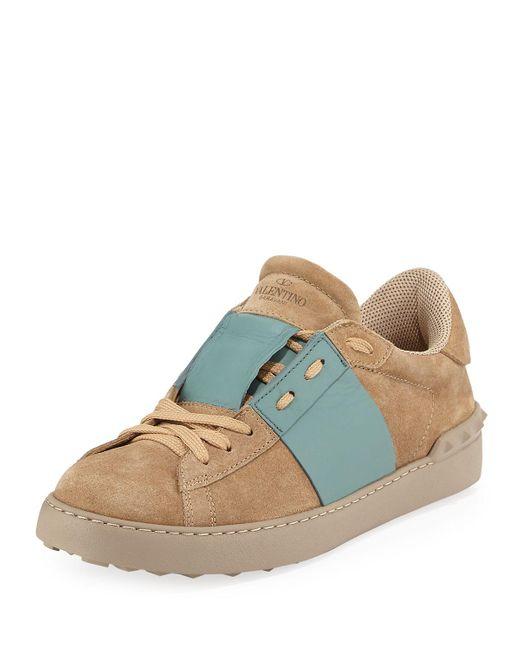 Valentino   Multicolor Men's Striped Suede & Leather Low-top Sneaker for Men   Lyst