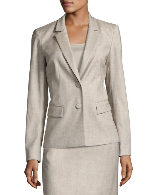 Lafayette 148 New York | Gray Kathy Two-button Jacket | Lyst
