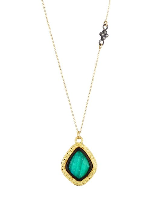 Armenta | Green Old World 18k Malachite & Moonstone Kite Pendant Necklace | Lyst