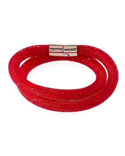 Swarovski | Red Stardust Convertible Crystal Mesh Bracelet/choker | Lyst