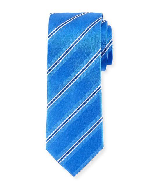 Bugatchi | Blue Stripe-weave Silk Tie for Men | Lyst