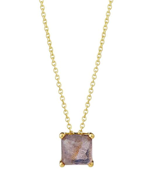 Ippolita   Purple Rock Candy 18k Square Sliding Pendant Necklace In Amethyst Doublet   Lyst