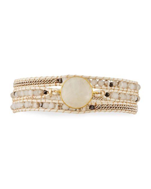 Nakamol   White Beaded Wrap Bracelet   Lyst