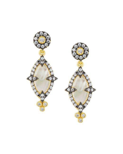 Freida Rothman | White Iridescent Crystal Marquise Drop Earrings | Lyst