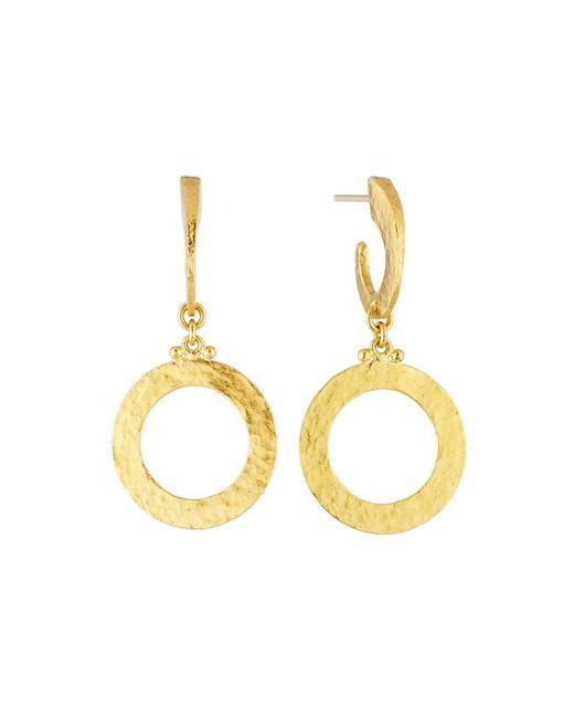 Gurhan | Metallic Mango 24k Hoop Drop Earrings | Lyst
