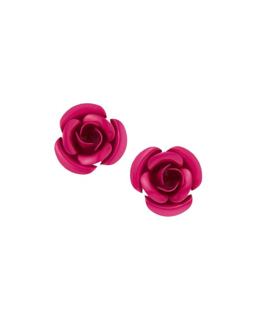 Romeo and Juliet Couture - Multicolor Metal Rose Earrings - Lyst