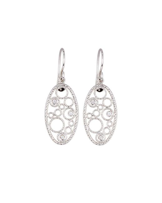 Roberto Coin | Bollicine 18k White Gold Drop Earrings With Diamonds | Lyst