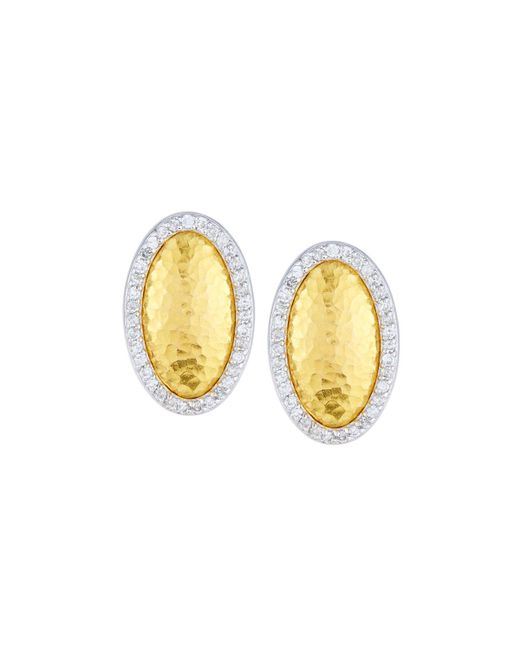 Gurhan | Metallic Jordan 24k Oval Diamond Stud Earrings | Lyst