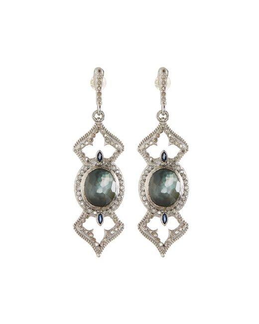 Armenta | Metallic New World Oval Open-cross Drop Earrings W/ Diamonds | Lyst