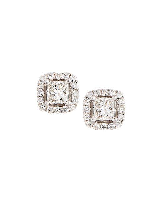 Neiman Marcus | 14k White Gold Princess-cut Diamond Stud Earrings | Lyst