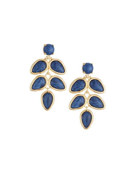 Lele Sadoughi | Blue Palm Leaf Chandelier Earrings | Lyst