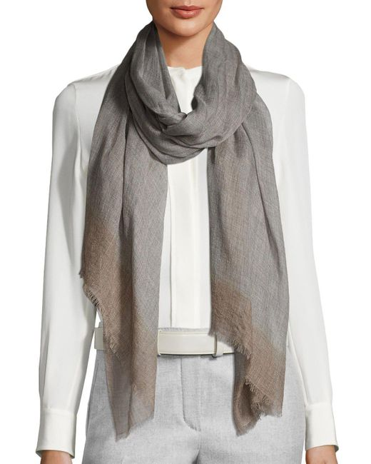 Bajra   Gray Wool-blend Lightweight Scarf   Lyst
