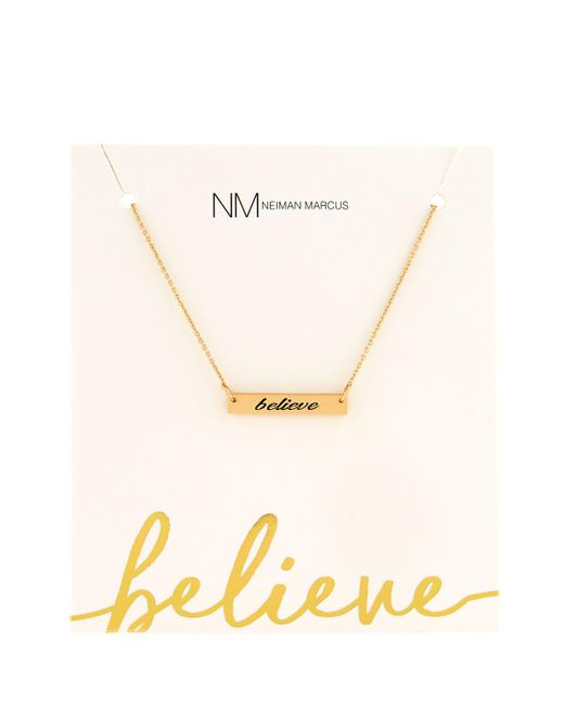 Lydell NYC   Metallic Believe Bar Pendant Necklace   Lyst