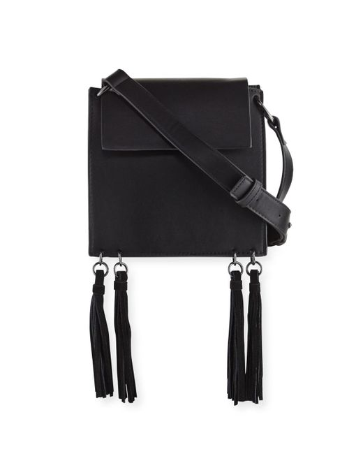 French Connection | Black Alana Tassel Crossbody Bag | Lyst