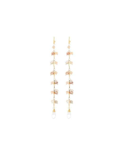 Nakamol | Multicolor Long Agate & Pearl Dangle Earrings | Lyst