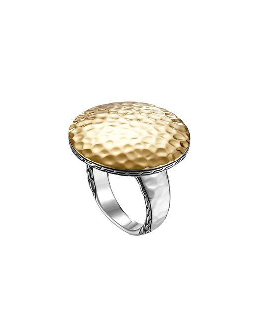 John Hardy - Metallic Dot Hammered Ring - Lyst