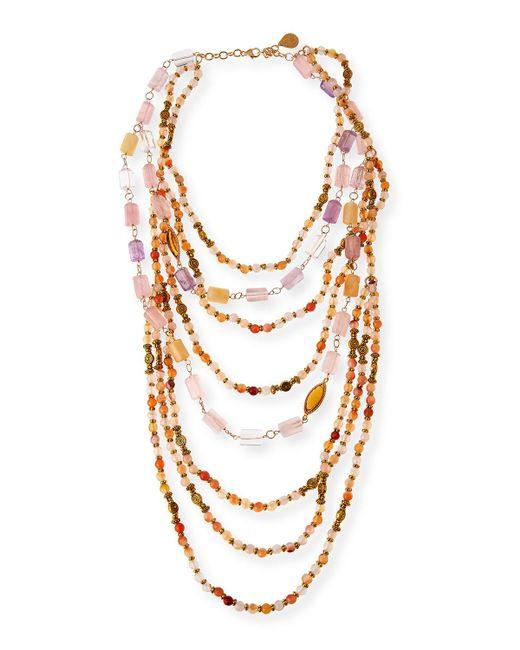 Devon Leigh - Pink Beaded Quartz - Lyst