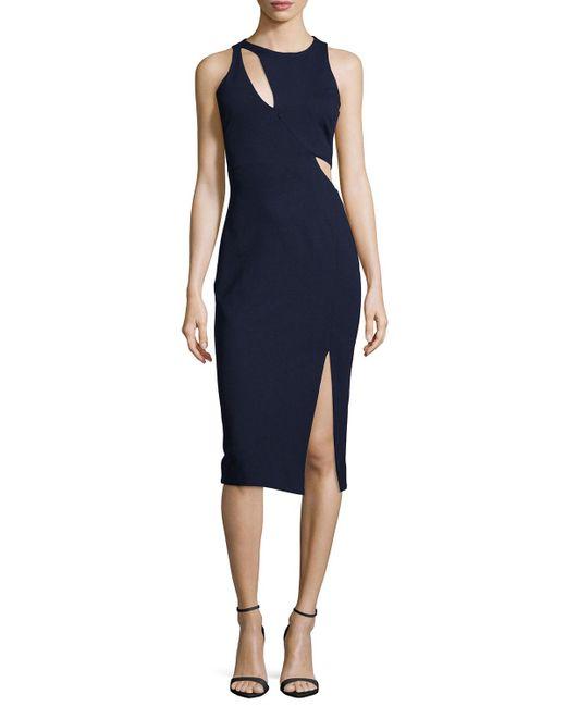 Nicholas | Red Sleeveless Ponte Curve Splice Dress | Lyst