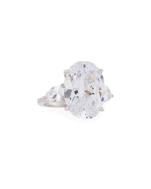 Fantasia by Deserio | Multicolor Oval & Pear-cut Cz Crystal Ring | Lyst