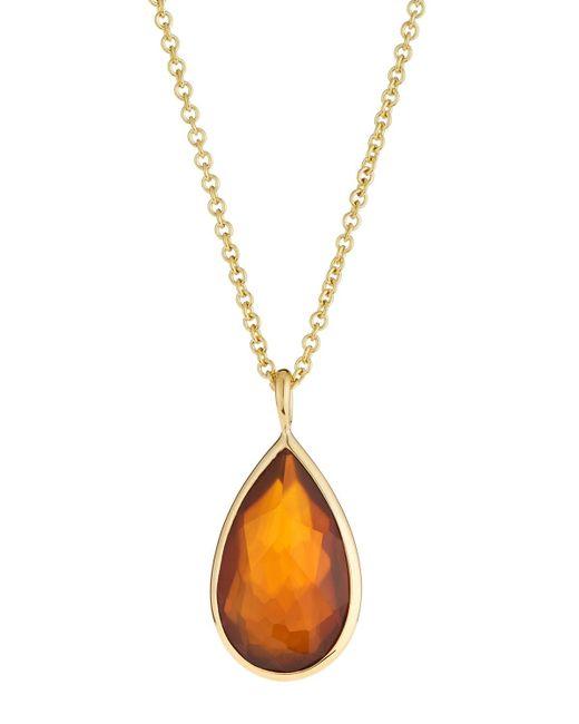 Ippolita - Metallic 18k Rock Candy® Medium Teardrop Pendant Necklace - Lyst