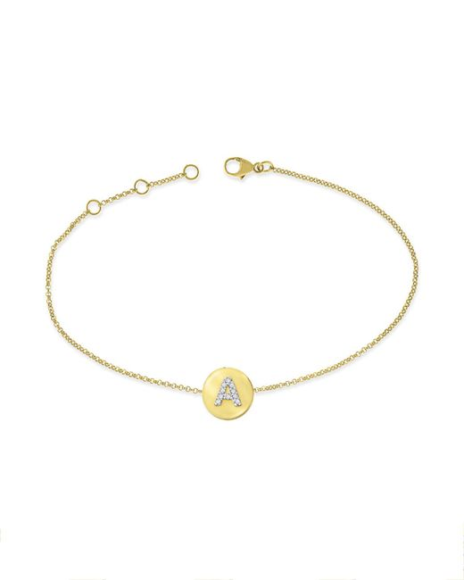 KC Designs | Metallic 14k Yellow Gold Diamond Disc Initial Bracelet | Lyst