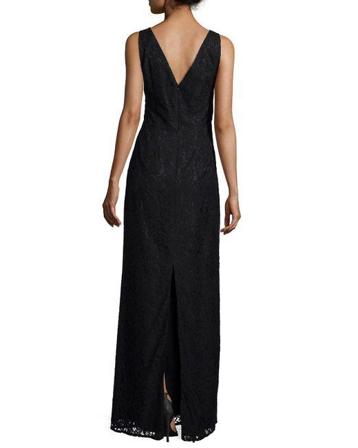 Donna Morgan - Black Lark Sleeveless Column Gown - Lyst