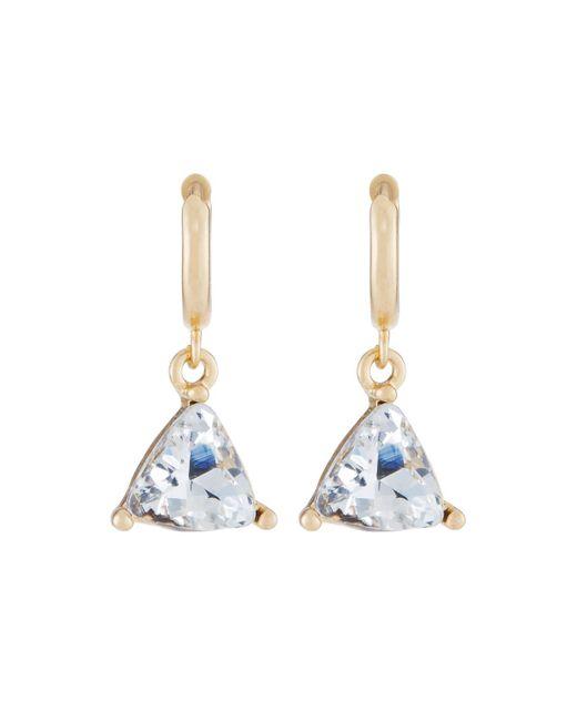 Fragments | Metallic Triangle Cubic Zirconia Drop Earrings | Lyst