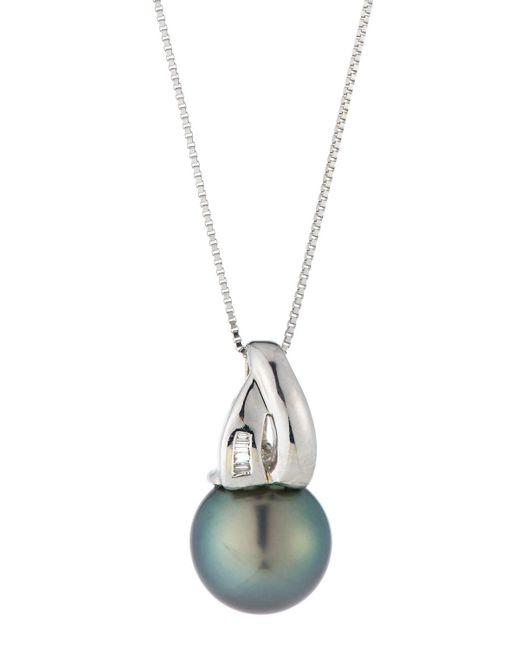Belpearl | Metallic 14k Tahitian Pearl & Diamond Pendant Necklace | Lyst