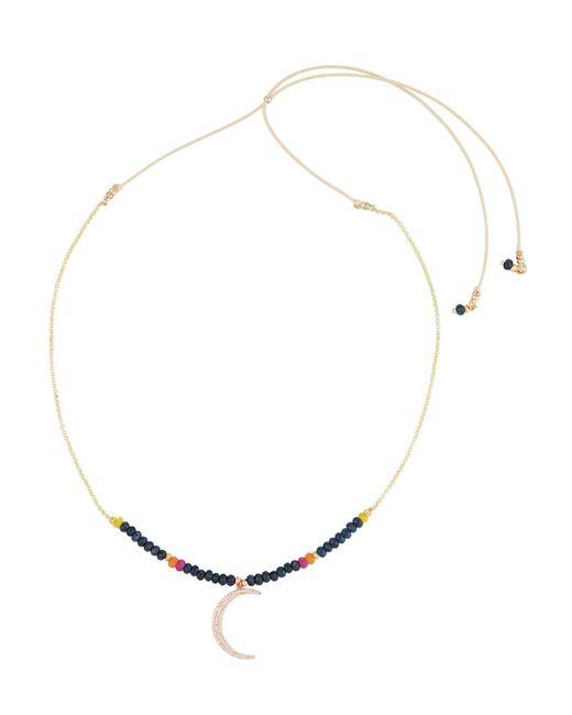 Nakamol | Blue Long Beaded Moon Y-drop Necklace | Lyst