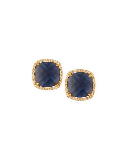 Gurhan - Elements Hue 22k Diamond & Blue Sapphire Stud Earrings - Lyst