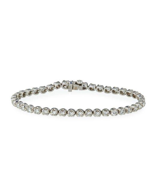 Neiman Marcus   14k White Gold Diamond Tennis Bracelet   Lyst
