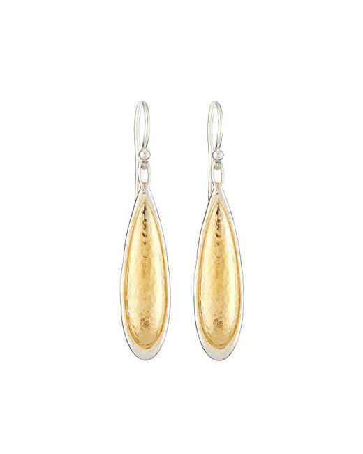 Gurhan - Metallic Amulet Elongated Teardrop Earrings - Lyst
