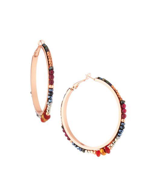 Nakamol - Metallic Multi-crystal Hoop Earrings - Lyst
