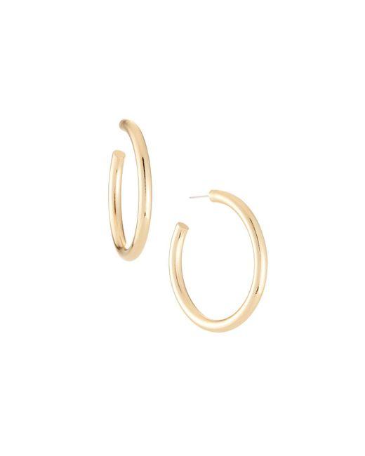 Lydell NYC - Metallic Tube Hoop Earrings - Lyst