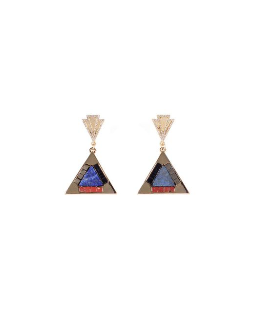 Lulu Frost - Blue Petra Odeon Drop Earrings - Lyst