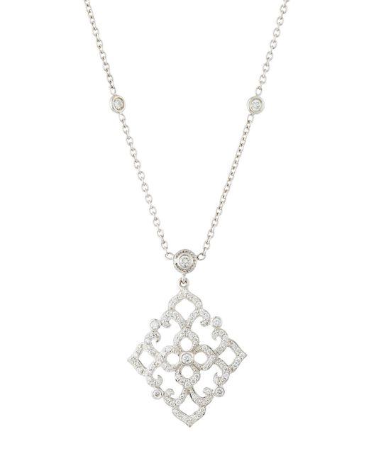 Penny Preville | Metallic Diamond Lace Pendant Necklace | Lyst