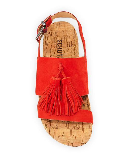 b3c08bb6e1a Women's Orange Monica Suede Tassel Espadrilles