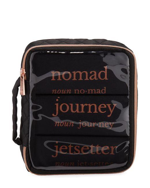 MYTAGALONGS - Black Three-piece Drawstring Bag Travel Set - Lyst