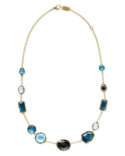 Ippolita - 18k Rock Candy Mixed-set Necklace In Steel Blue - Lyst