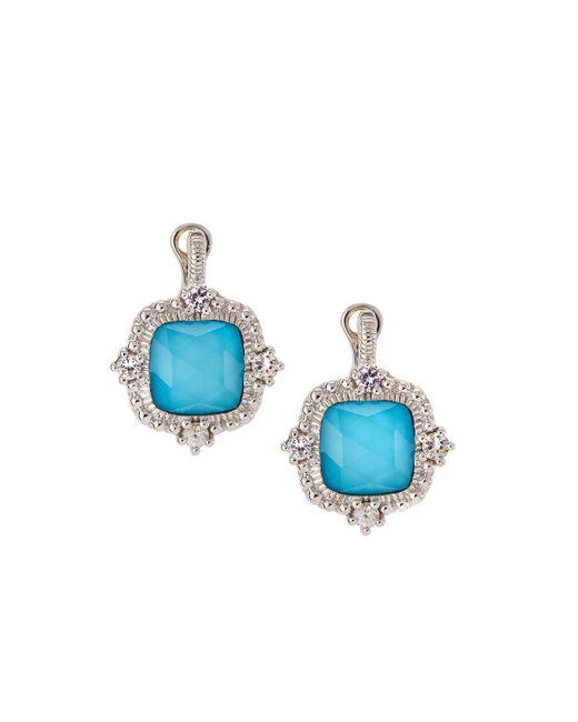 Judith Ripka | Blue La Petite Imitation Turquoise Doublet Drop Earrings | Lyst
