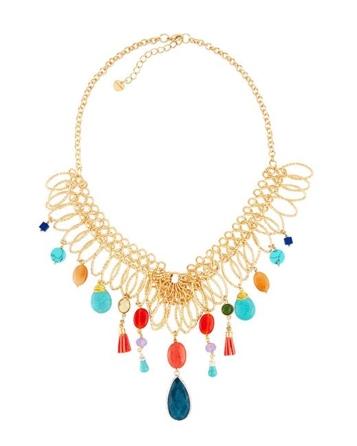 Nakamol - Metallic Multicolor Mixed Statement Necklace for Men - Lyst
